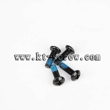 Special custom screw of black nylok furniture screw