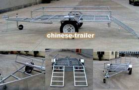 ATV trailer with DOT/Emark, Bascule with hydraulic jack under the bed