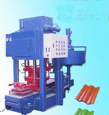 JS-128 colored roof tile and terrazzo tile making machine