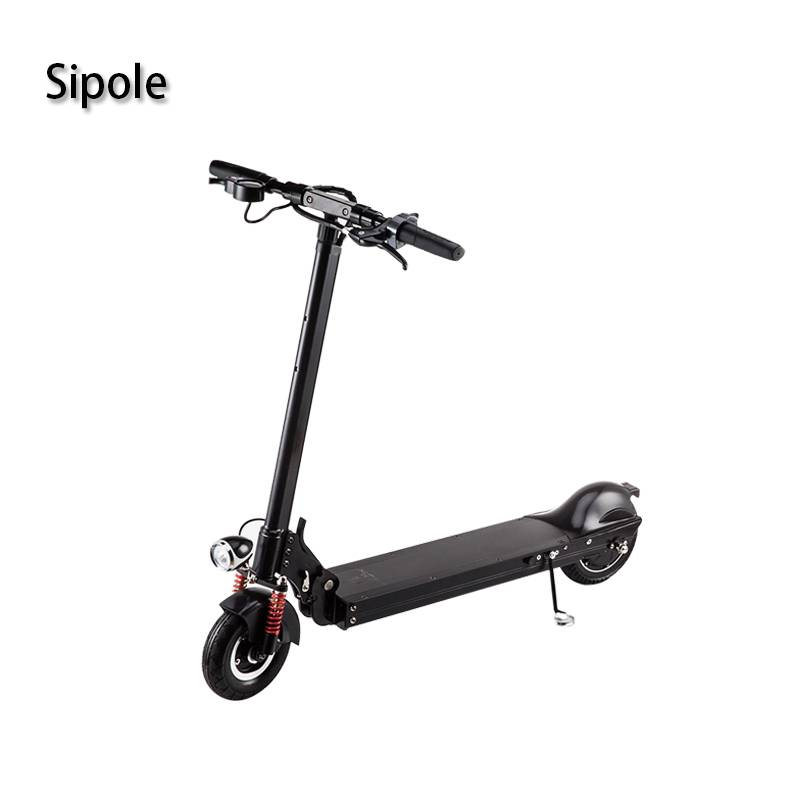 Free Shipping 374Wh 45KM Folding Self Balance Electric Scooter with Led bright lights and car horns