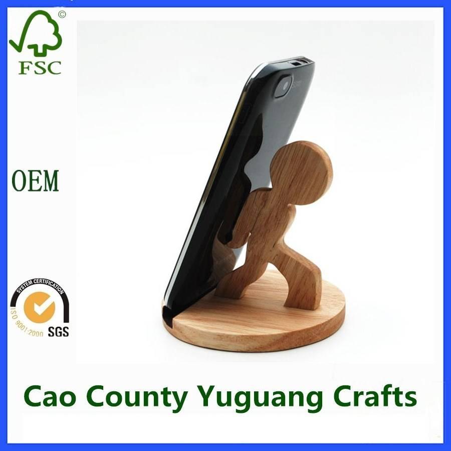 Wooden Funny Cell Phone Holder Cell Phone Holder For Desk