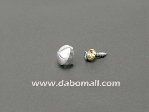 Aluminium caps standoffs, threaded ring, screw