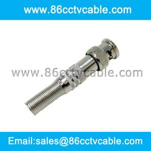 Solderless BNC Plug for Surveillance Camera Cable