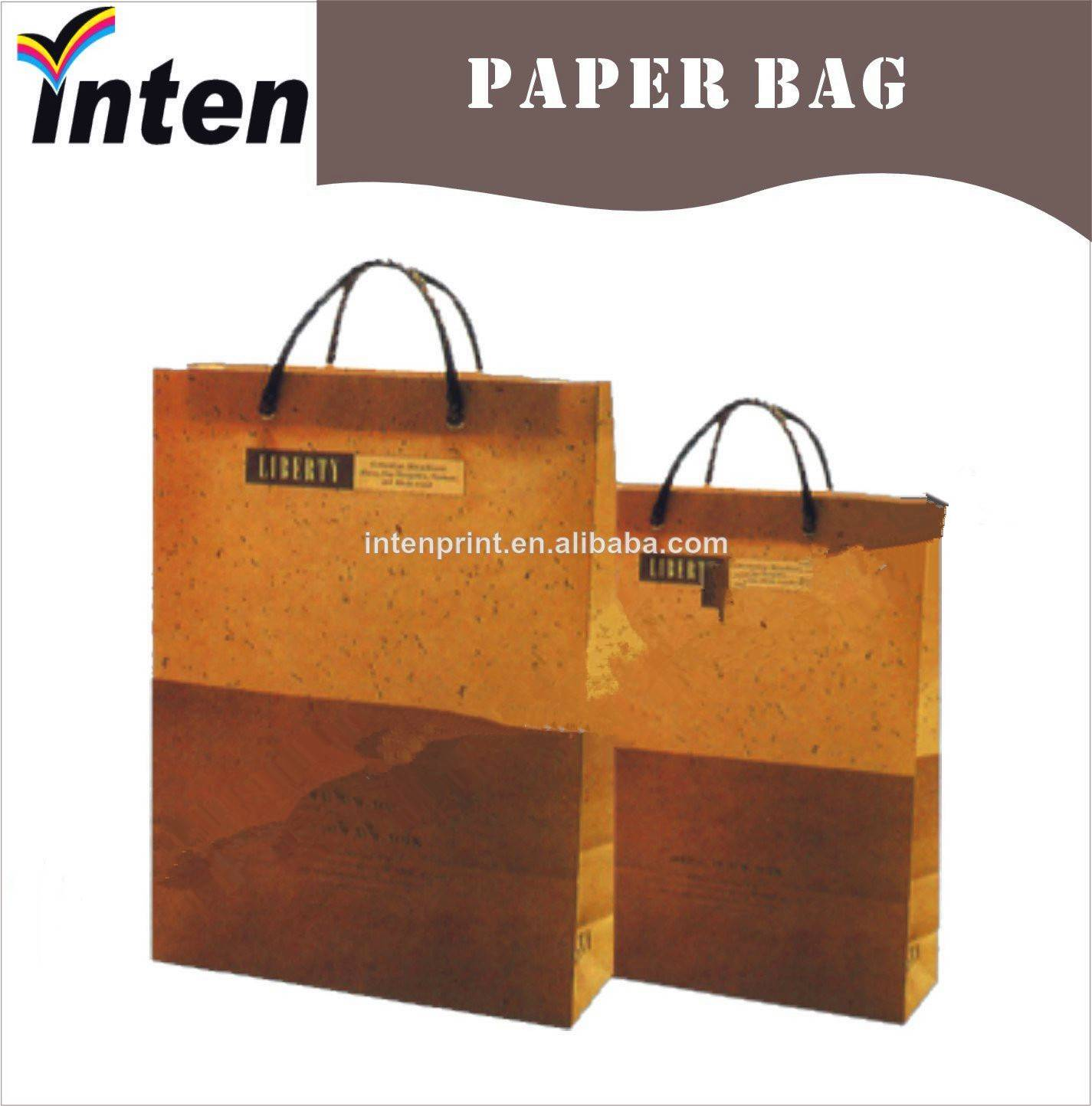 2014 Inten Brown Kraft Paper gift bag