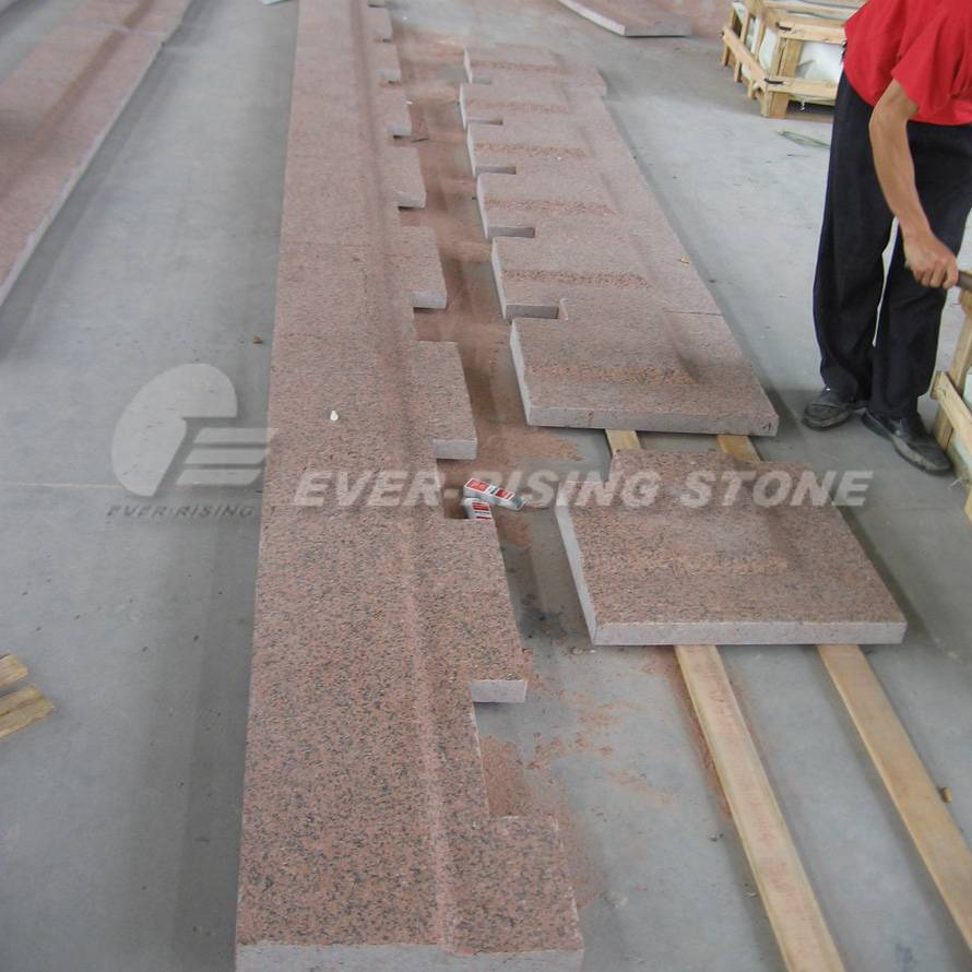 China Red Granite Paver, Granite Coping, Tianshan Red