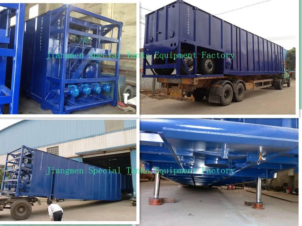 500bbl Hydraulic Lifting Mobile Frac Tank --China Frac Tank Manufacturer