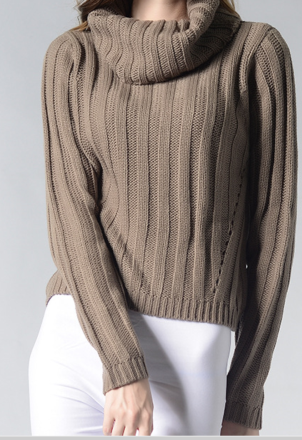fashion ladies sweater knitted jumper turtle neck