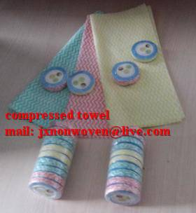 100% cotton white terry compressed towel