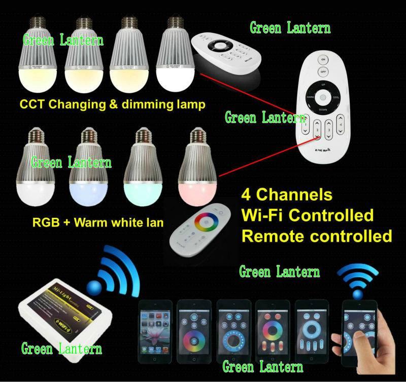 High lumen diammble wifi wireless remote control led bulb lighting
