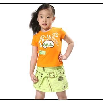 Short Sleeve T-Shirt and Short Skirt