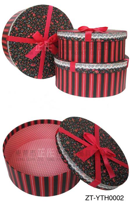 Printing round boxes wholesale gift packaging
