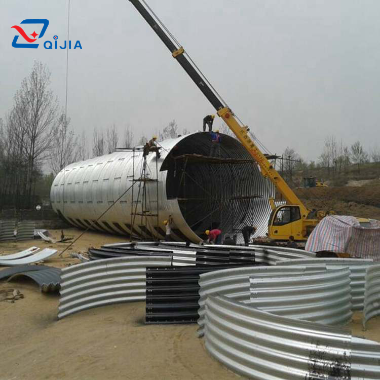 10 years factory wholesale Galvanized Corrugated Metal Pipe Culvert