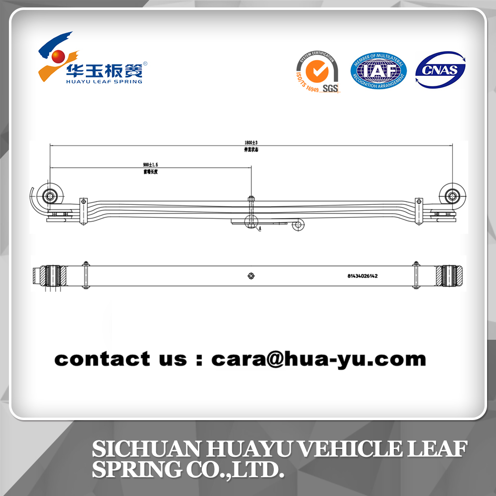 leaf spring compatible with MAN 81434026142