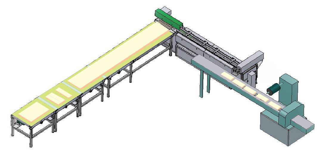 Automatic wafer (multi-pieces) feeding & packing line