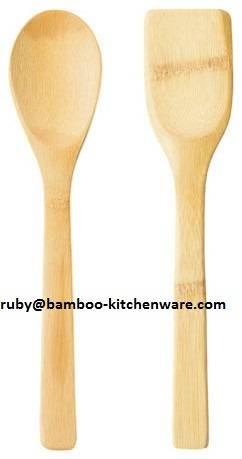 Bamboo Studio Bamboo Serving Spoon and Spatula Set