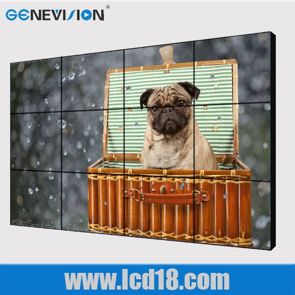 70 low cost narrow bezel lcd video wall LCD Advertising Player Wall