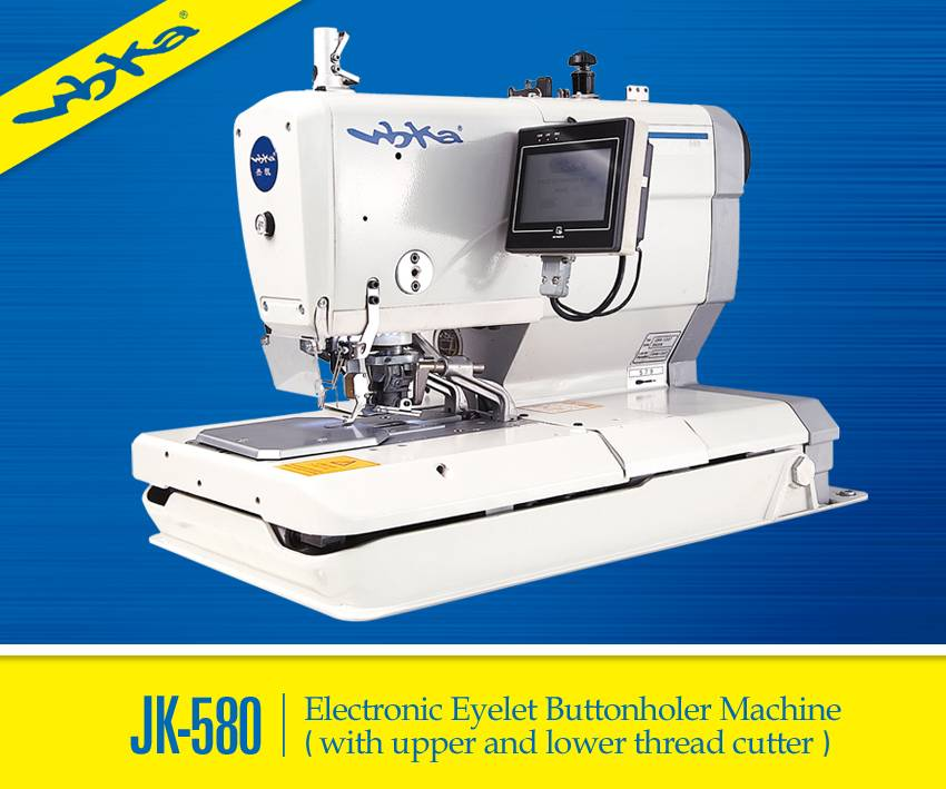 JK-580 Chainstitch Eyelet Buttonholer Machine With Multi Functions System
