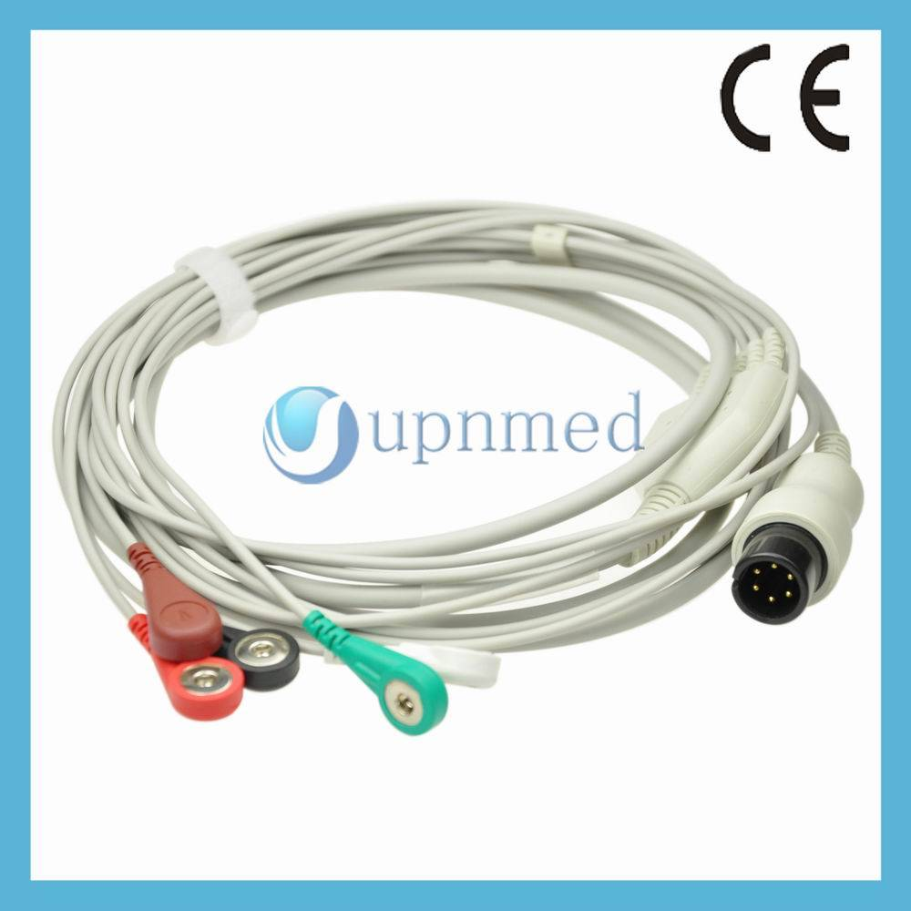 GE PRO1000 direct connect ECG cable with lead wires,U302-15SA