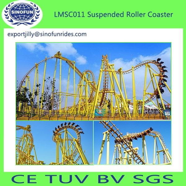 China Produced high quality thrilling suspended roller coaster amusement park rides for sale