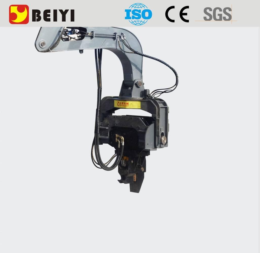 BEIYI hydrauli pile driving machine excavator mounted vibro hammer pile driver