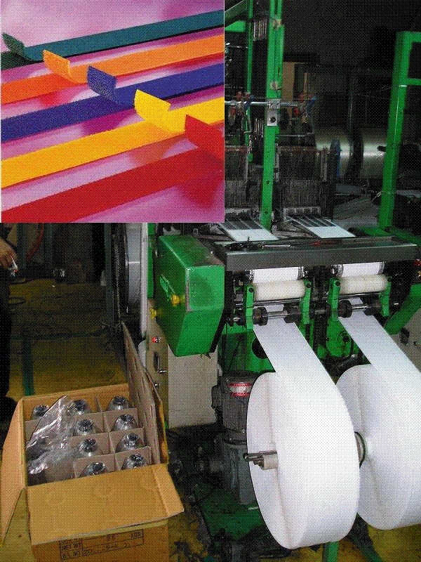 Used velcro tape making knitting machines for sell.