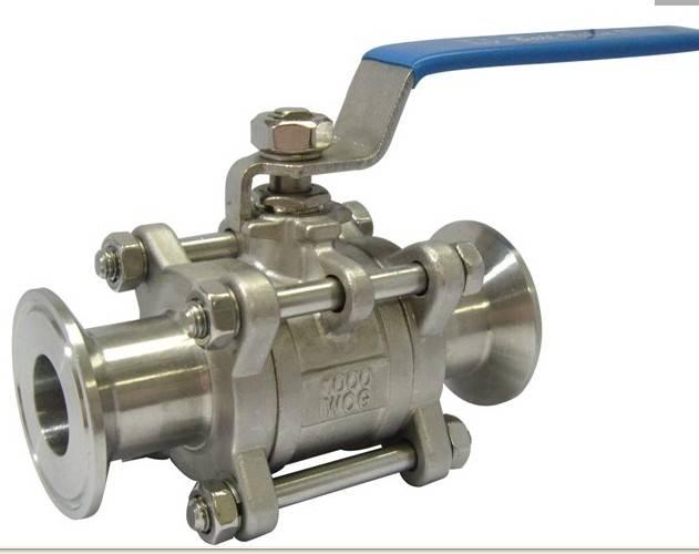 SS304 1/2 3-pc quick assemble ball valve with high platform