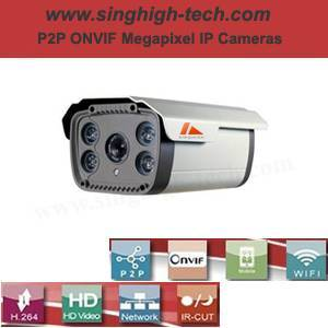 P2p Onvif 2.0MP 1080P Waterproof IR IP Camera (NS5366)