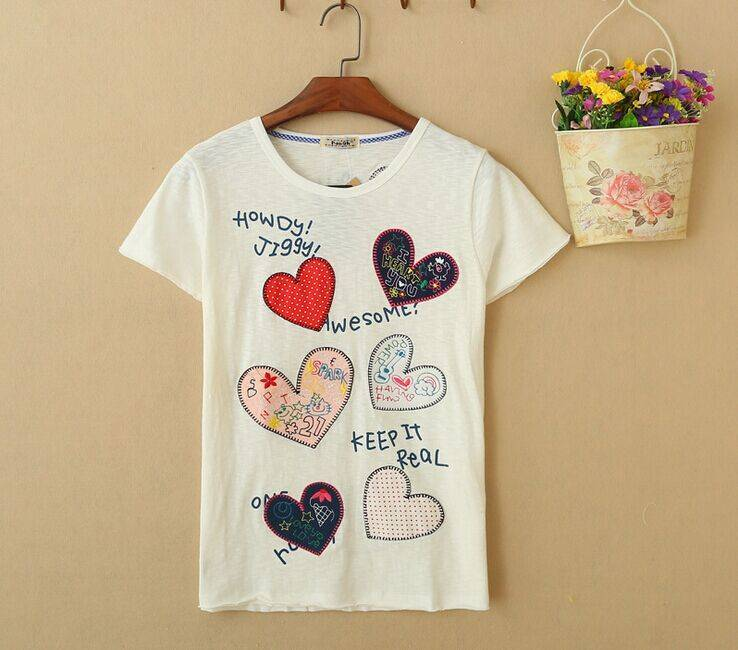 2015 New Lady Heart Short SleeveT-Shirt
