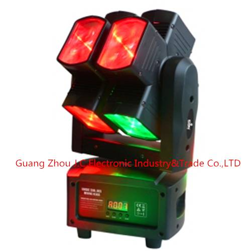2016 Newest led moving head light/led hot wheel light Dual Axis 8pcs 10w 4in1 RGBW 4in1