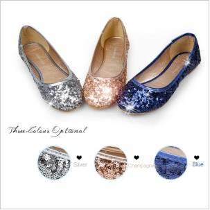 Fashion Sparkling Sequins Flat Heel Women Shoes A149303090