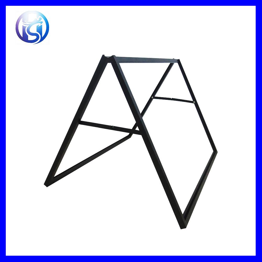 HS-H31 Double Sides A Frame Iron Steel Outdoor Advertising Poster Display stand