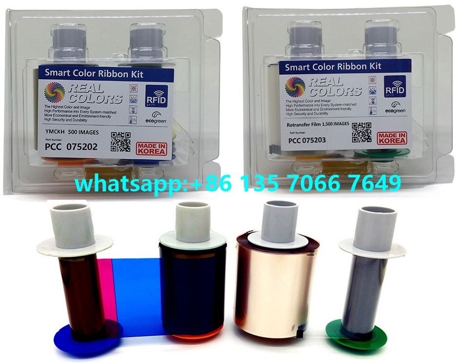 Compatible 075202 YMCKH & 075203 Film For Indonesia EKTP