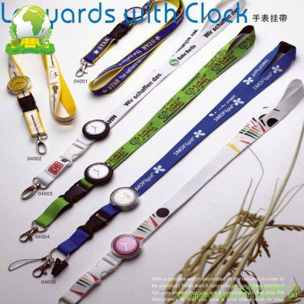 Selling Silk Screen Printing Lanyards with Watch