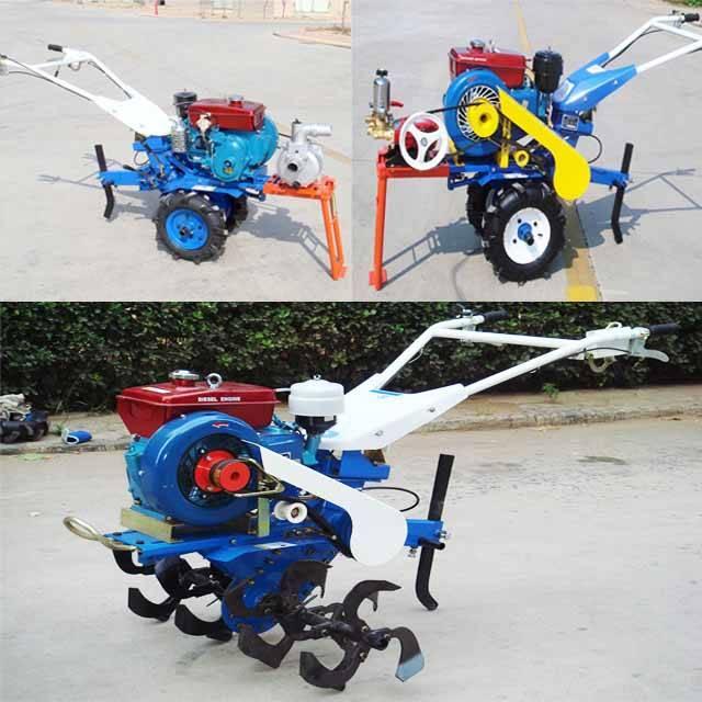 6HP 4.4kw Diesel Tiller Two Wheel Tiller Mini Tiller Garden Tiller Farm Tiller Rotary Tiller