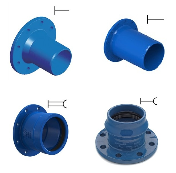 Flanged Pipe Fitting Pn16-25, Dn40-300