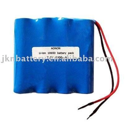 7.4V 4400mAh lithium ion battery pack