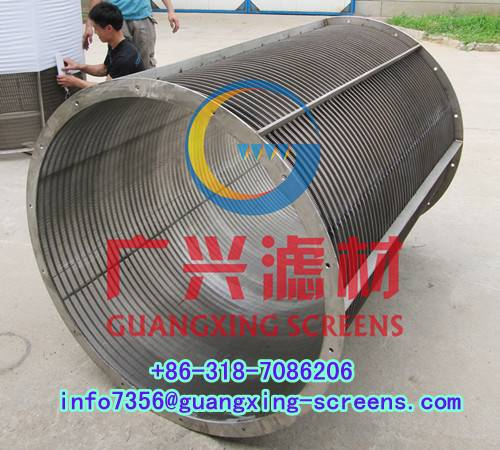 Reverse rolled slotted wedge wire screen,screen cylinder