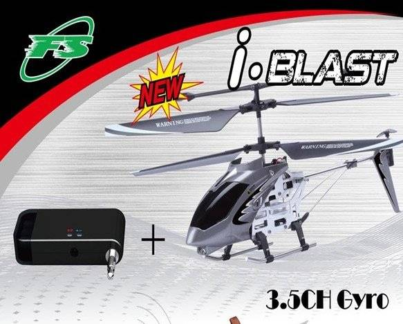 Latest R/C Helicopter fit IPhone/ IPad/ IPod Touch (Free shipping Via China Post Air Mail)