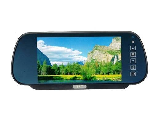 Car Video, 7 Inch Rearview Mirror Monitor with Bluetooth