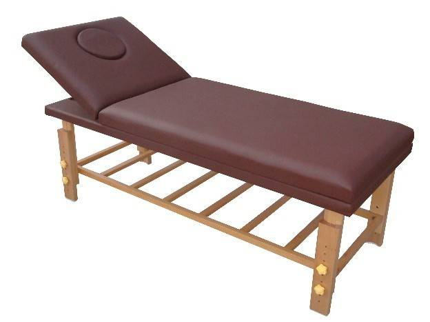 New- SM-002 fixed, wooden massage table