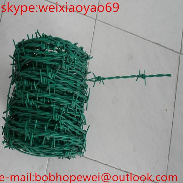 stainless steel razor barbed wire/pvc barbed wire/barbed wire fence design