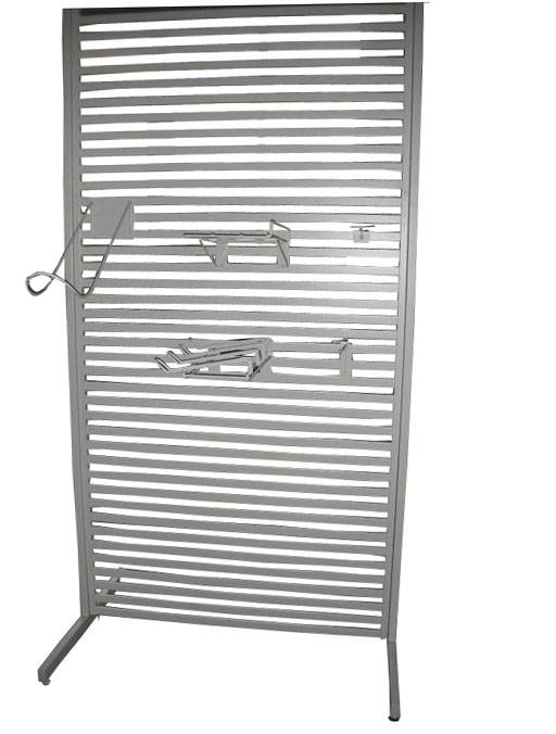 Bar backing panel shelving (for clothes)
