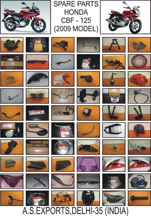 SELLING ORIGINAL SPARE PARTS/YEDEK PARCA/PIEZAS DE REPUESTO FOR HONDA CBF 125 MODEL 2009