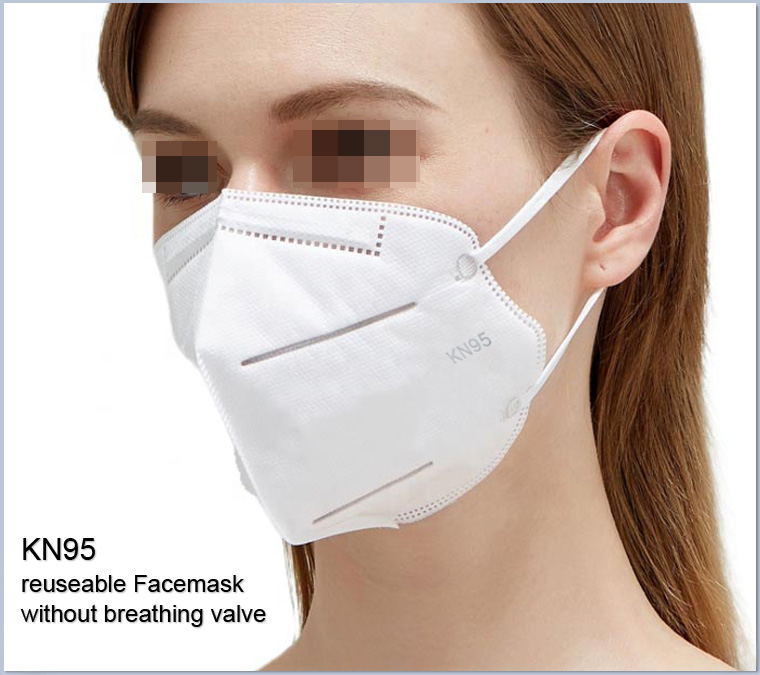 KN95 facemask without breathing valve earloop CE ertificated