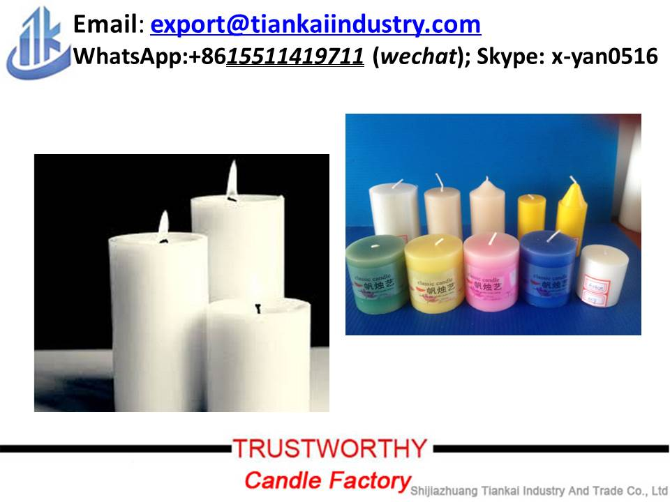 scented white pillar candle on sale