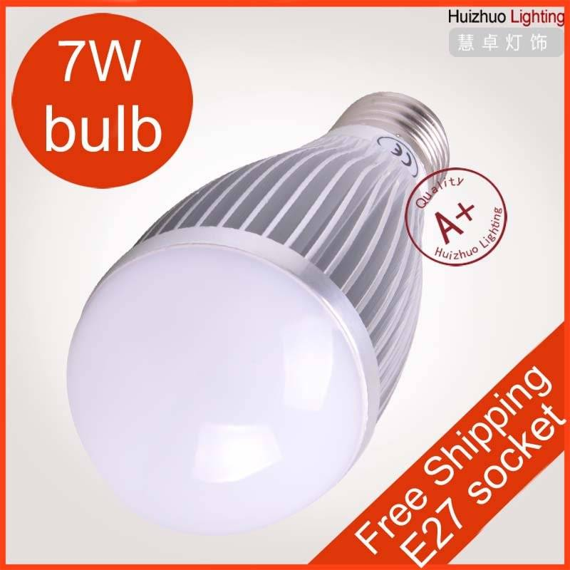 7W E27 led bulb light Silver energy saving bulb lamp110-240V input voltage with high power