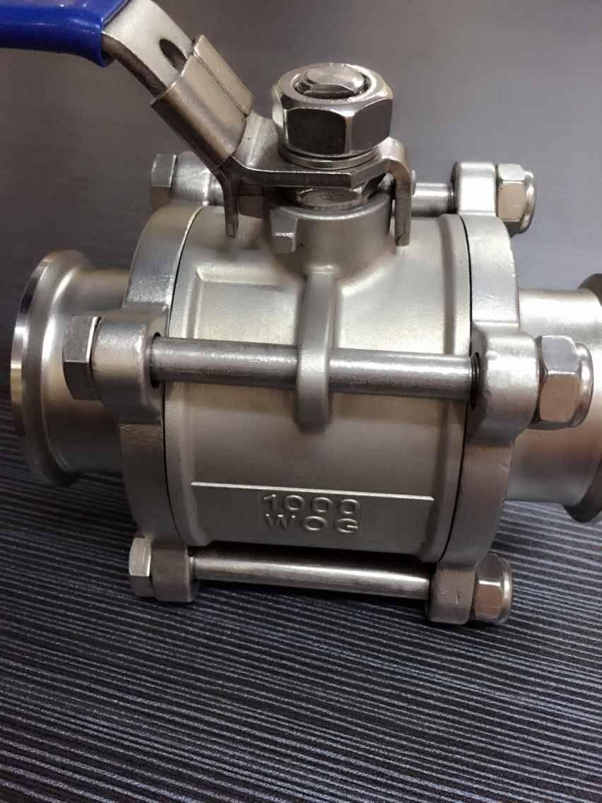 3-pc clamp ball valve