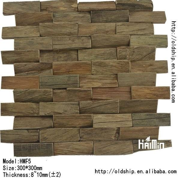 Wood Mosaic for interior wall decoration