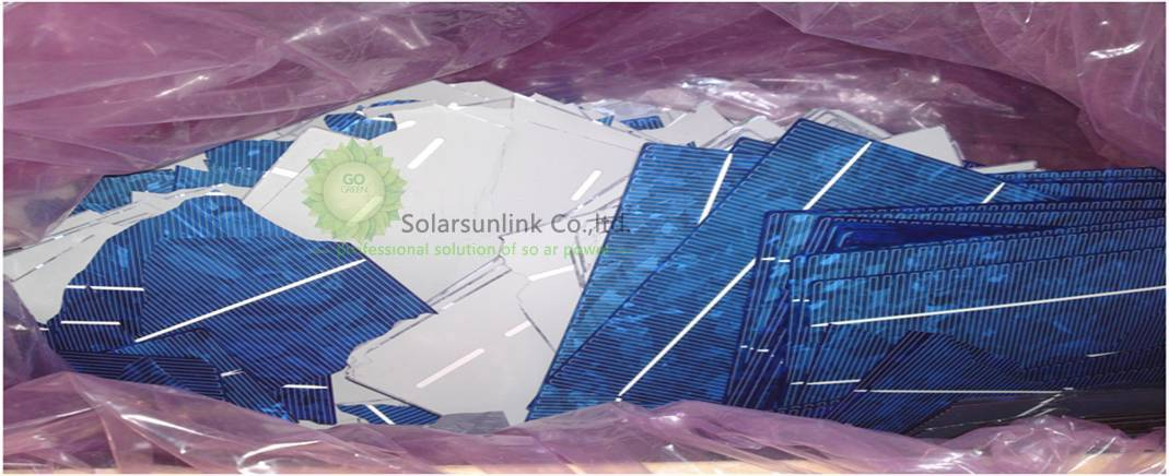 recycling broken solar cell for PV use
