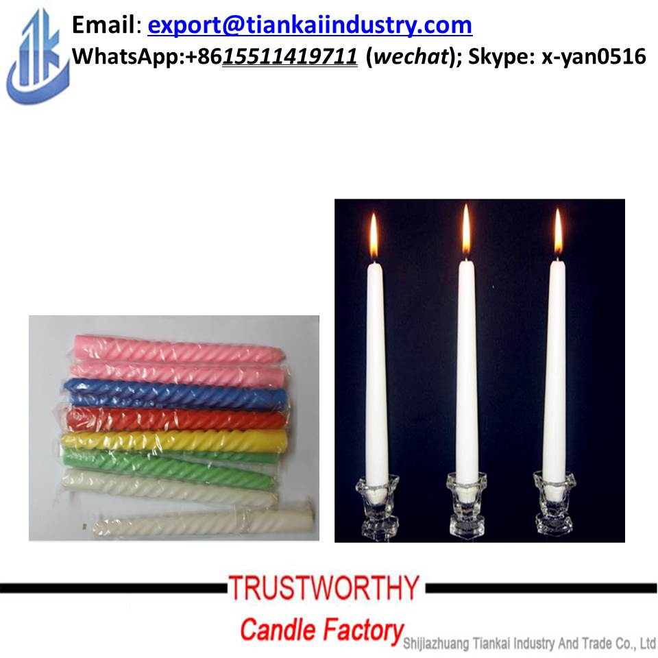 wholesale spiral / stick white candle